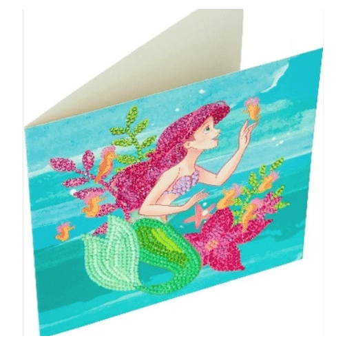 DIY Crystal Art Kits - Disney Card Kit 18x18cm - Ariel 2