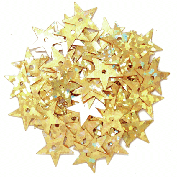 Craft Factory - Sequins - Star Holographic - 10mm - Gold 1