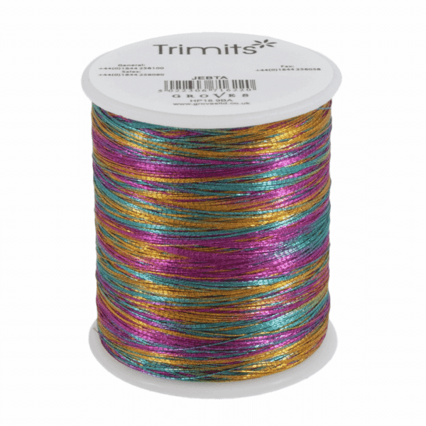 Trimits - Embroidery Thread - Metallic - Rainbow - 180m 1