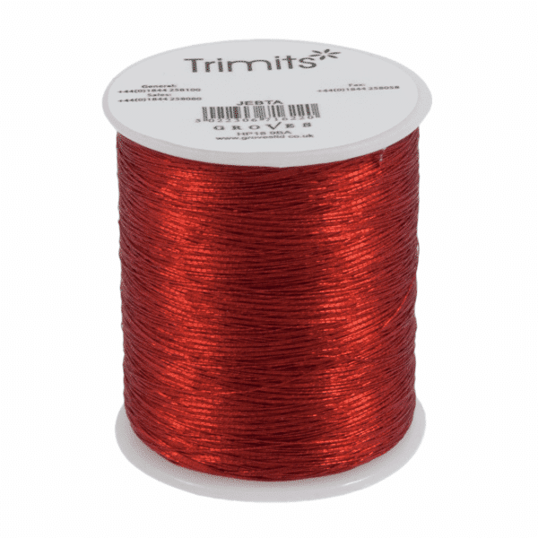 Trimits - Embroidery Thread - Metallic - Red - 180m 1