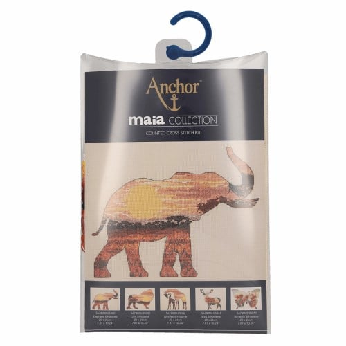 Maia Collection - Counted Cross Stitch Kit - Elephant Silhouette 2