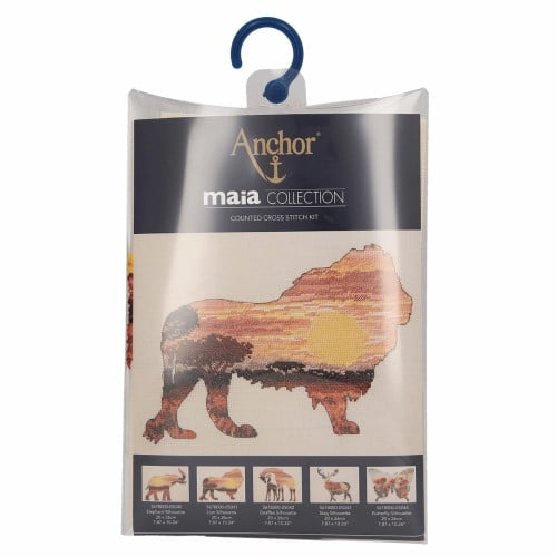 Maia Collection - Counted Cross Stitch Kit - Lion Silhouette 2