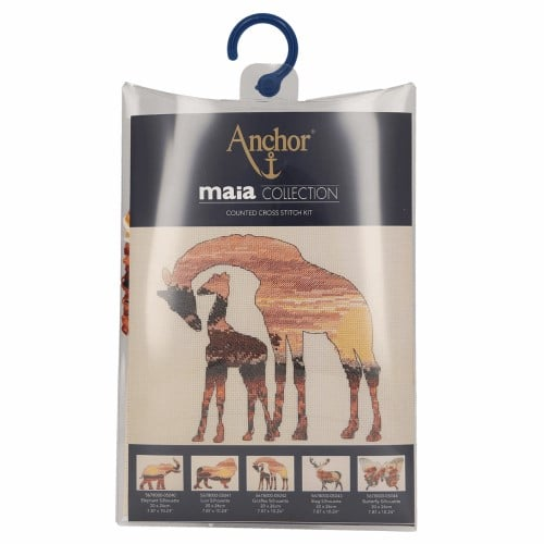 Maia Collection - Counted Cross Stitch Kit - Giraffes Silhouette 2