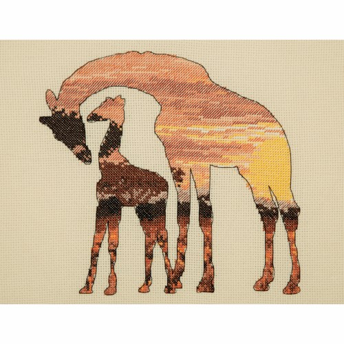 Maia Collection - Counted Cross Stitch Kit - Giraffes Silhouette 1