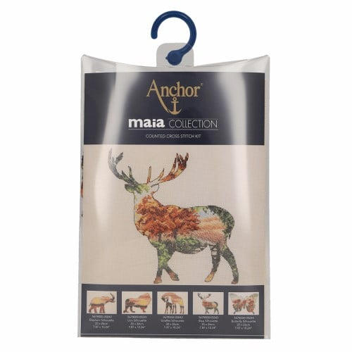 Maia Collection - Counted Cross Stitch Kit - Stag Silhouette 2