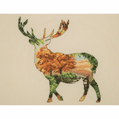 Maia Collection - Counted Cross Stitch Kit - Stag Silhouette 1