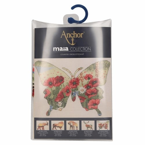 Maia Collection - Counted Cross Stitch Kit - Butterfly Silhouette 2
