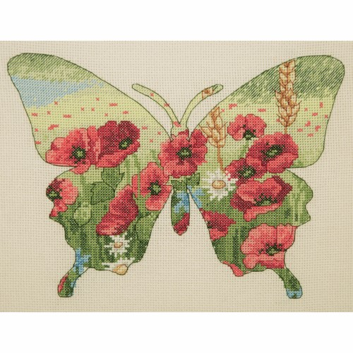 Maia Collection - Counted Cross Stitch Kit - Butterfly Silhouette 1