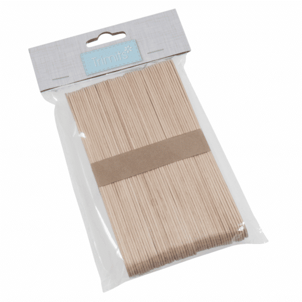 Trimits - Wooden Lollipop Sticks - Natural - 150mm x 18mm x 1.6mm 1