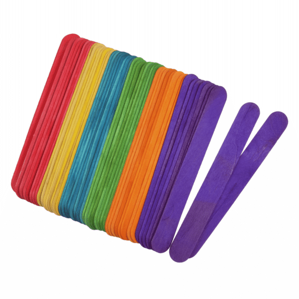 Trimits - Wooden Lollipop Sticks - Multi Coloured - 150mm x 18mm x 1.6mm 2