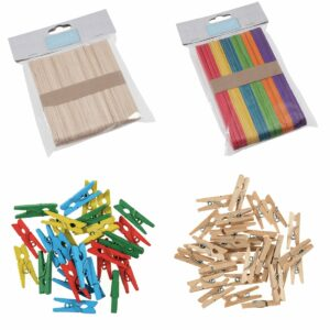 Wooden Sticks & Pegs