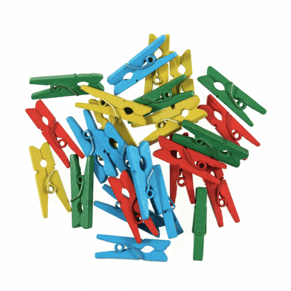 Trimits - Wooden Pegs - Multi Coloured 1