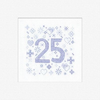 Heritage Crafts - Occasions by Susan Ryder - 25th Celebration Card Kit 1