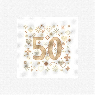 Heritage Crafts - Occasions by Susan Ryder - 50th Celebration Card Kit 1