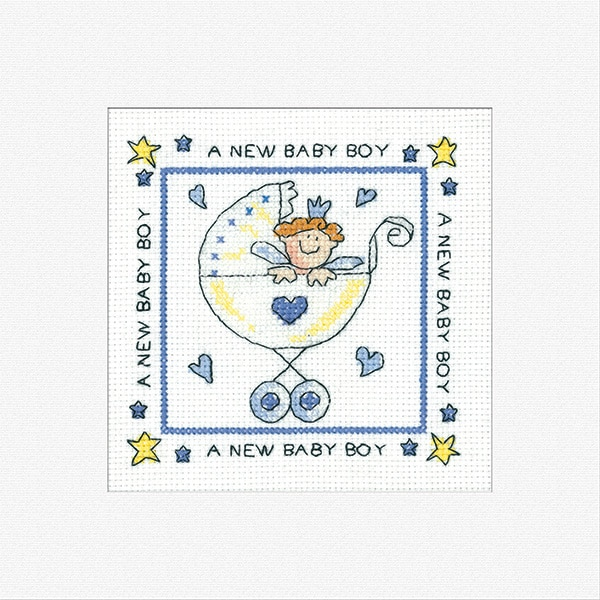 Heritage Crafts - Greetings Cards by Karen Carter - New Baby Boy 1