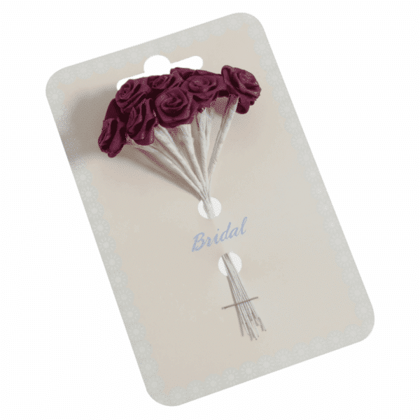 Occasions - Ribbon Roses - Burgundy - 15mm 1