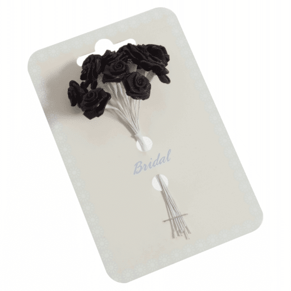 Occasions - Ribbon Roses - Black - 15mm 1