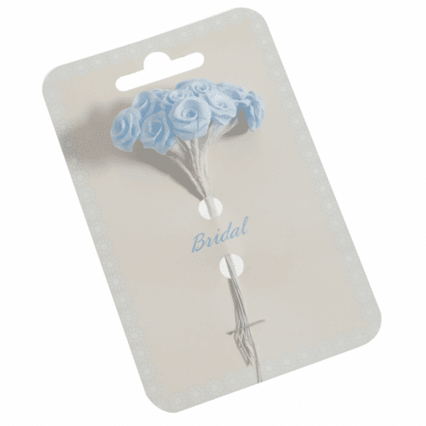 Occasions - Ribbon Roses - Blue - 15mm 1