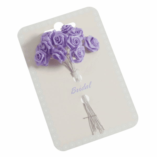 Occasions - Ribbon Roses - Lilac - 15mm 1