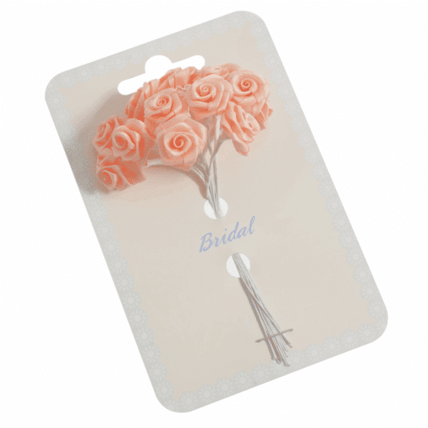 Occasions - Ribbon Roses - Peach - 15mm 1