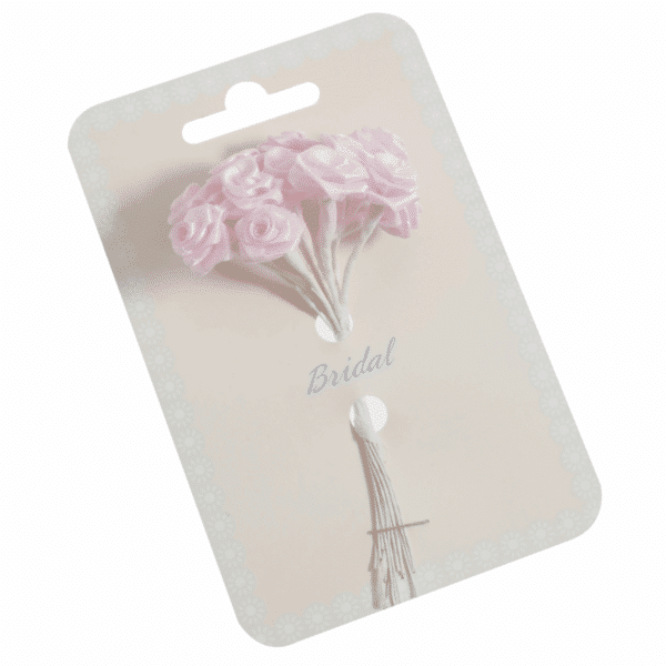Occasions - Ribbon Roses - Pink - 15mm 1
