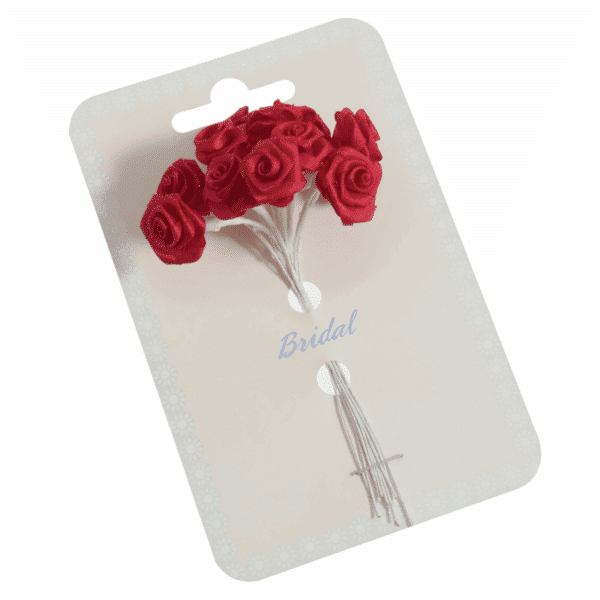Occasions - Ribbon Roses - Red - 15mm 1
