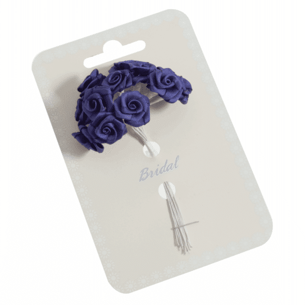Occasions - Ribbon Roses - Royal Blue - 15mm 1