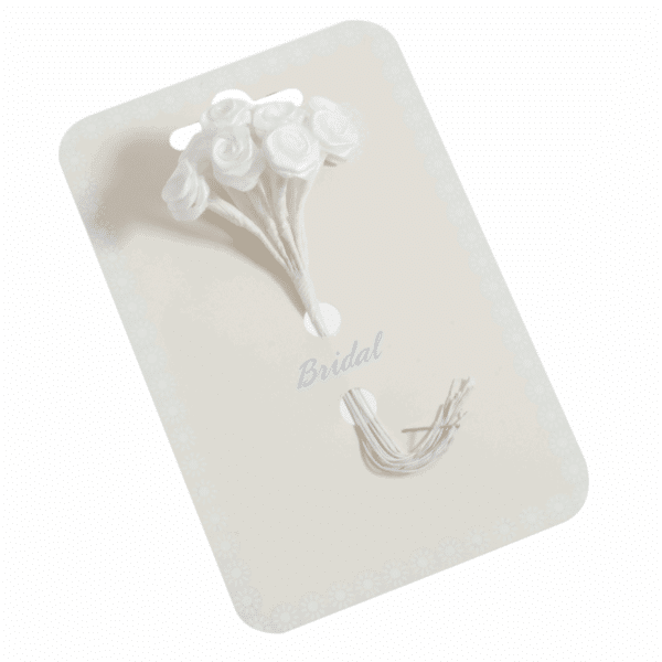 Occasions - Ribbon Roses - White - 15mm 1