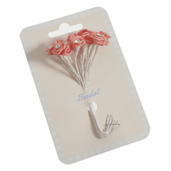 Occasions - Ribbon Roses - Diamante Dusty Rose - 13mm 1