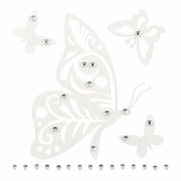 Trimits - Craft Embellishments - Filigree Butterflies With Diamnate 1