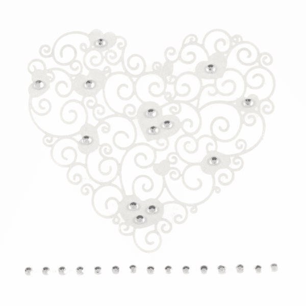Trimits - Craft Embellishments - Filigree Heart - 6cm 1