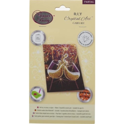 DIY Crystal Art Kits - Card Kit 10x15cm - Champagne Celebration 3