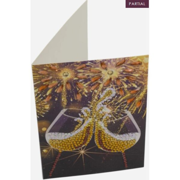DIY Crystal Art Kits - Card Kit 10x15cm - Champagne Celebration 2