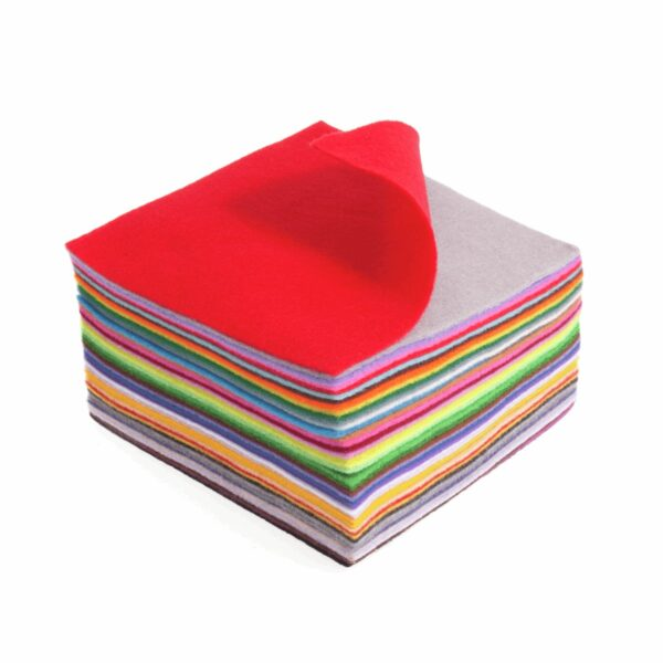 Felt Squares Pack of 42 Mixed Colours 15x15cm 2
