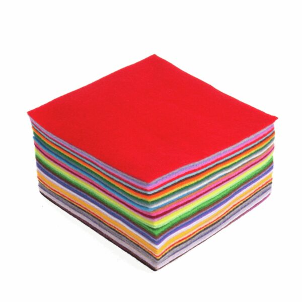 Felt Squares Pack of 42 Mixed Colours 15x15cm 1