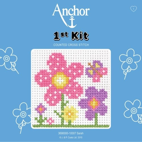 Anchor - 1st Cross Stitch Kit – Flowers for Sarah 1