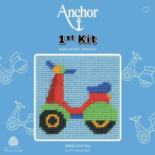Anchor 1st Tapestry Kit - Paul's Scooter 1