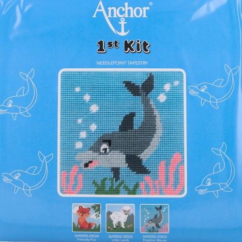 Anchor 1st Tapestry Kit - Dolphin Waves 1