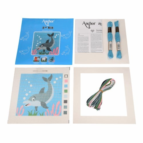 Anchor 1st Tapestry Kit - Dolphin Waves 3