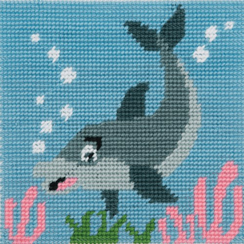 Anchor 1st Tapestry Kit - Dolphin Waves 2