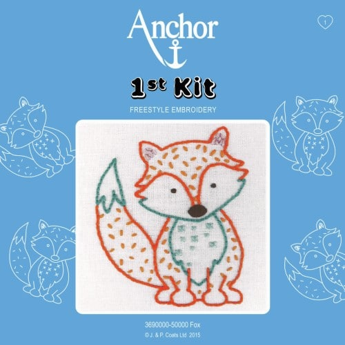 Anchor - 1st Embroidery Kit - Fox 1