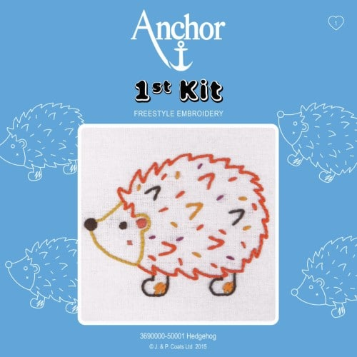 Anchor - 1st Embroidery Kit - Hedgehog 1