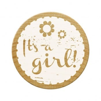 Woodies Stamps - It's A Girl! 1