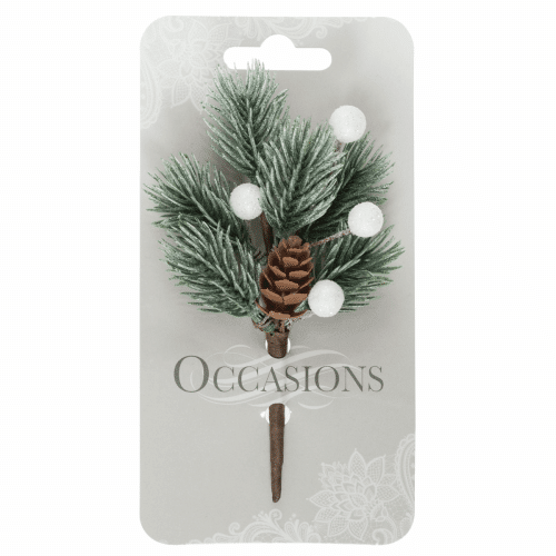 Occasions - Frosted Pine and Berries Spray 1