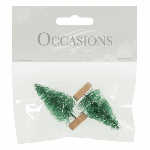 Occasions - Mini Frosted Christmas Trees 1