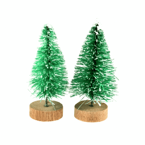 Occasions - Mini Frosted Christmas Trees 2